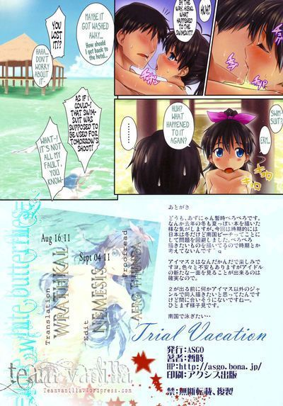 (C79) [ASGO (Zanzi)] Trial Vacation (THE iDOLM@STER)  =TV= [Decensored]