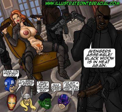 illustriert interracial Parodien