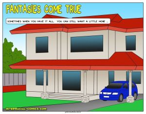Interracial Comic – Fantasies come true