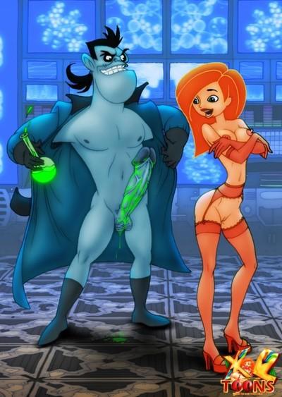 Dr. Drakken and Kim Possible
