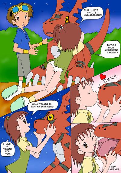 Juri, Meet Guilmon (Digimon)