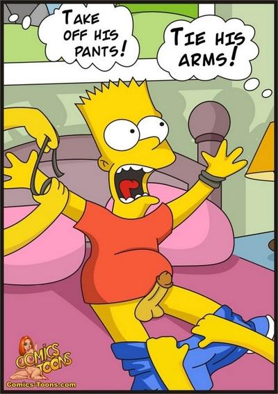 Барт захваченный Симпсоны