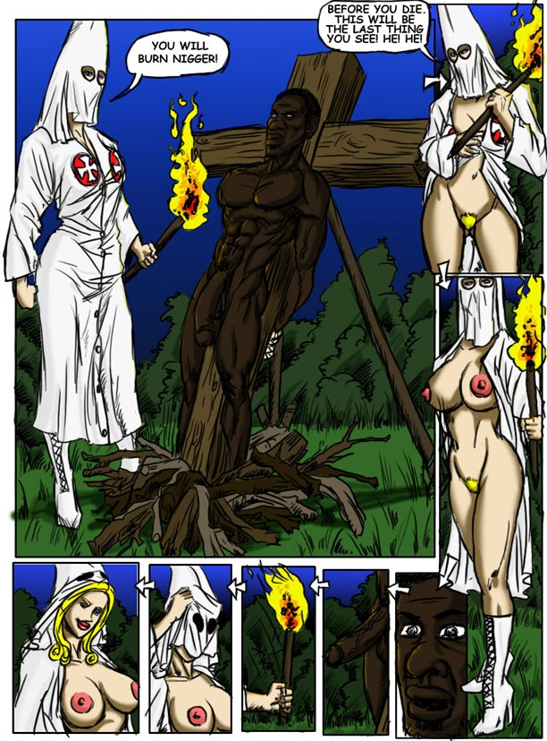 Klan Roast- illustrated interracial