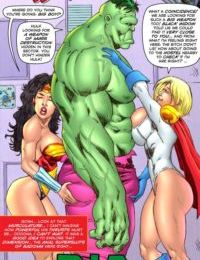 Superheroine ComiXXX- Wonder Woman & Power Girl- Big One