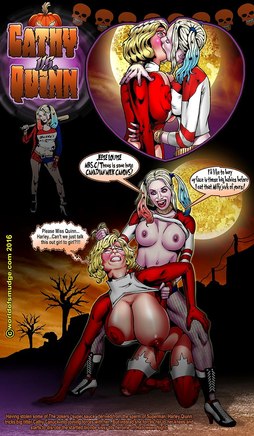 Harley Quinn -Cathy Canuck- Smudge