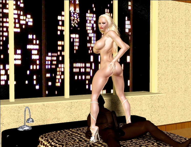 Jenna\'s Black Dick Riding- BNW 3D