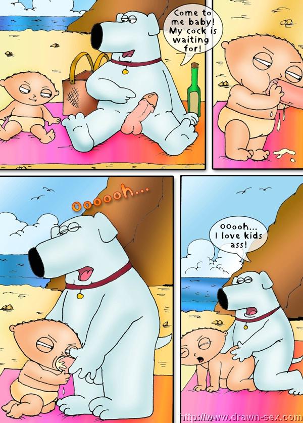 Family Guy - Beach Play,Drawn Sex