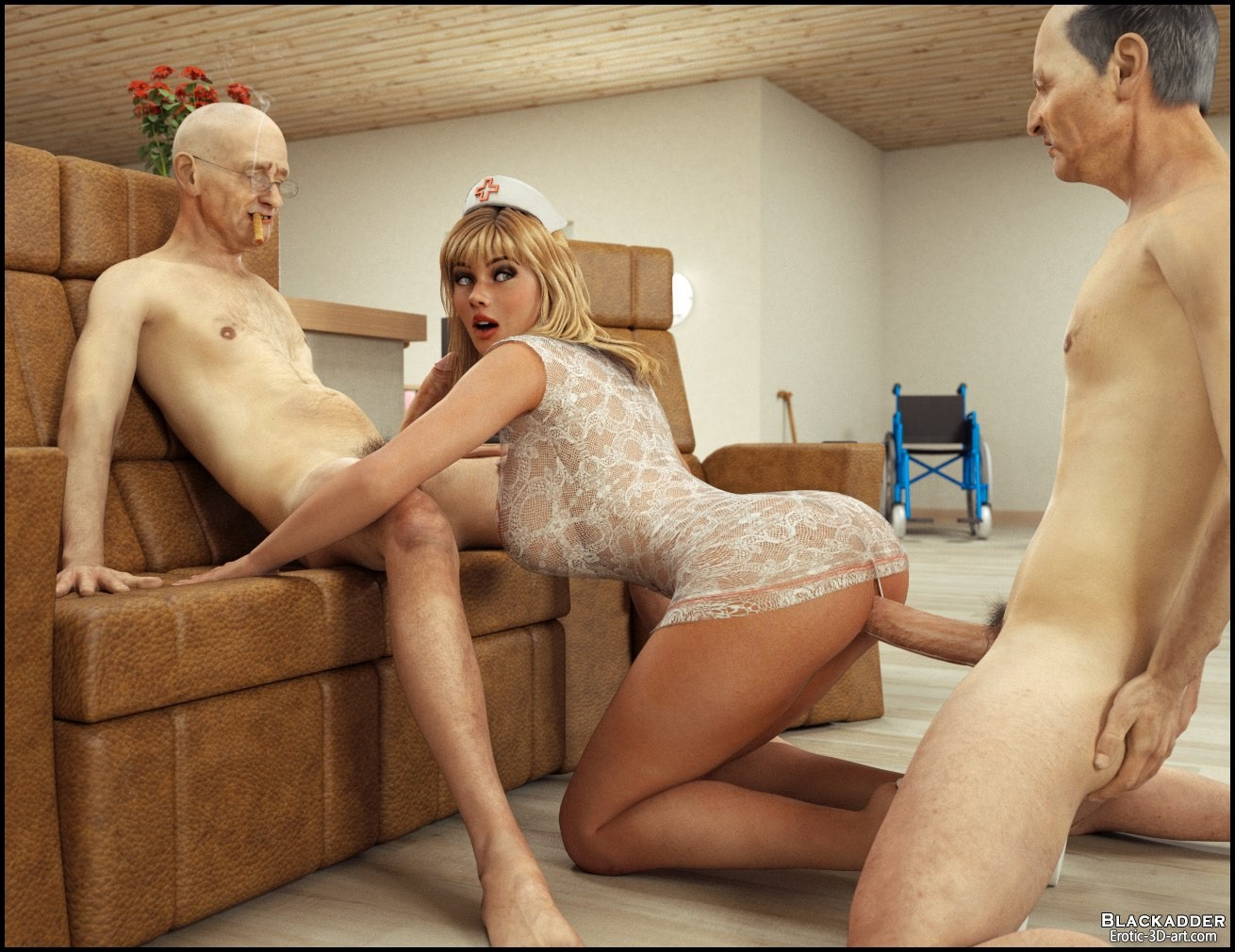 Дом престарелых порно