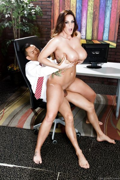 Thick MILF Alison Tyler with huge fat tits gets fucked in the office - part 2