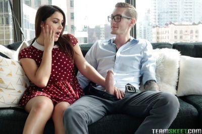 Amateur Euro teen Valentina Nappi taking ass licking before hardcore anal