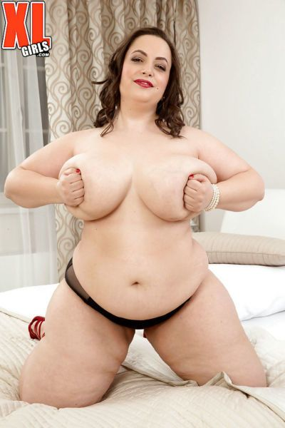 Euro fatty Mia Sweetheart revealing huge boobs and big butt in high heels - part 2