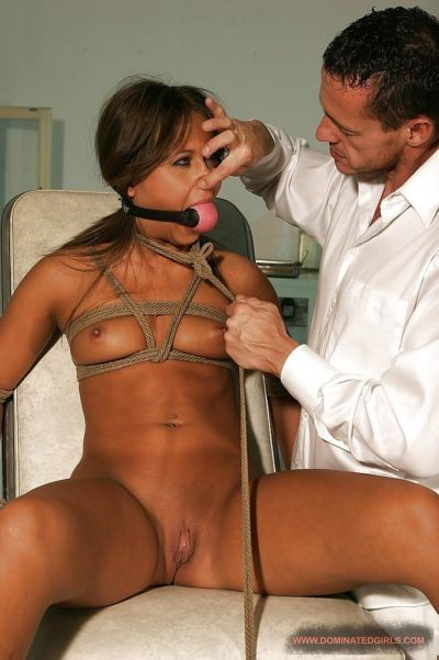 Filthy babe gets bound and BDSM fucked in her pussy after a blowjob