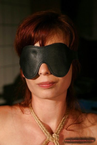 Slutty babe Zyna Baby gets blindfolded and tied up to get BDSM fucked - part 2